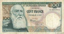 100 Francs CONGO BELGE  1956 P.33a TB+
