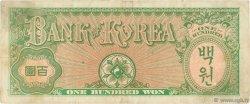 100 Won CORÉE DU SUD  1953 P.14 TTB