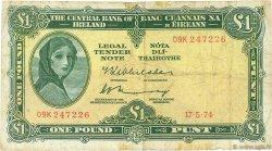 1 Pound IRLANDE  1974 P.064c B+