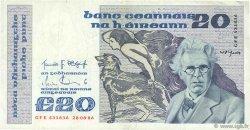 20 Pounds IRLANDE  1986 P.073b TTB