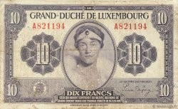10 Francs LUXEMBOURG  1944 P.44a TB