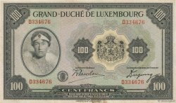 100 Francs LUXEMBOURG  1934 P.39a VF