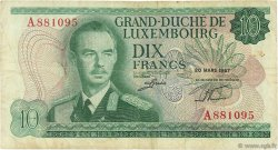 10 Francs LUXEMBOURG  1967 P.53a TB+