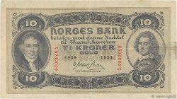 10 Kroner NORVÈGE  1939 P.08c TTB