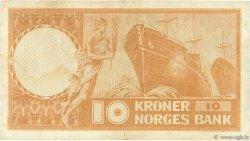 10 Kroner NORVÈGE  1955 P.31b1 TB