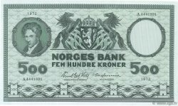 500 Kroner NORVÈGE  1972 P.34f SUP+