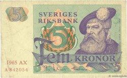 5 Kronor SUÈDE  1965 P.51a TTB