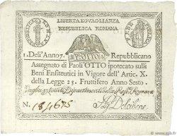 8 Paoli VATICAN  1798 P.S538 pr.SPL
