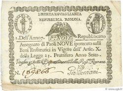 9 Paoli VATICAN  1798 PS.539 pr.SUP