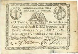 10 Paoli VATICAN  1798 P.S540b pr.TTB