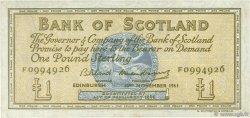 1 Pound ÉCOSSE  1961 P.102a TTB