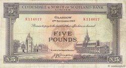5 Pounds ÉCOSSE  1953 P.192a TB+