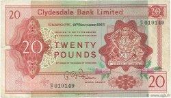 20 Pounds ÉCOSSE  1964 P.200 TB