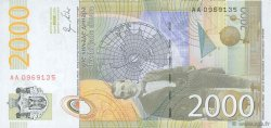 2000 Dinara SERBIE  2011 P.54 NEUF