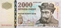 2000 Forint HONGRIE  2010 P.198c NEUF