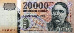 20000 Forint HONGRIE  2008 P.201a SUP