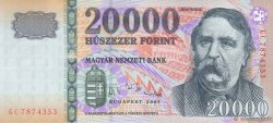 20000 Forint HONGRIE  2007 P.193d SUP