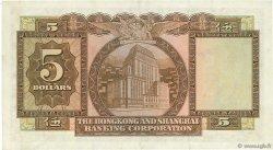 5 Dollars HONG KONG  1959 P.181a SUP