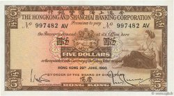 5 Dollars HONG KONG  1960 P.181a SUP
