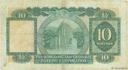 10 Dollars HONG KONG  1977 P.182h TB