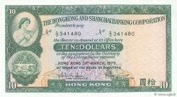 10 Dollars HONG KONG  1979 P.182h NEUF
