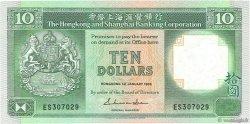 10 Dollars HONG KONG  1986 P.191a NEUF