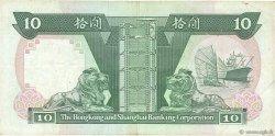 10 Dollars HONG KONG  1987 P.191a TTB