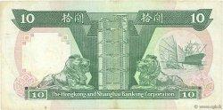 10 Dollars HONG KONG  1989 P.191c TTB
