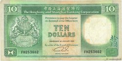10 Dollars HONG KONG  1990 P.191c TB+