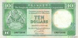10 Dollars HONG KONG  1990 P.191c TTB+