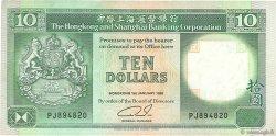 10 Dollars HONG KONG  1992 P.191c TTB+