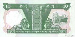 10 Dollars HONG KONG  1992 P.191c NEUF
