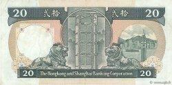 20 Dollars HONG KONG  1986 P.192a TTB