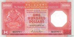 100 Dollars HONG KONG  1985 P.194a SUP