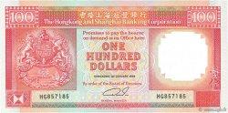 100 Dollars HONG KONG  1989 P.198a NEUF