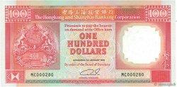 100 Dollars HONG KONG  1990 P.198b NEUF