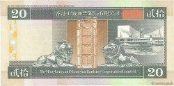 20 Dollars HONG KONG  1998 P.201d TTB+