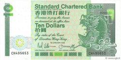 10 Dollars HONG KONG  1988 P.278b NEUF