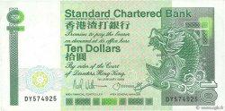 10 Dollars HONG KONG  1989 P.278c SUP
