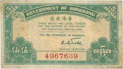 5 Cents HONG KONG  1941 P.314 TB