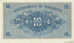 10 Cents HONG KONG  1941 P.315a pr.NEUF