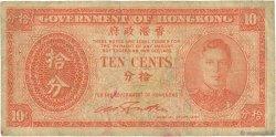 10 Cents HONG KONG  1945 P.323 B+