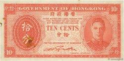 10 Cents HONG KONG  1945 P.323 TTB