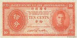 10 Cents HONG KONG  1945 P.323 SUP