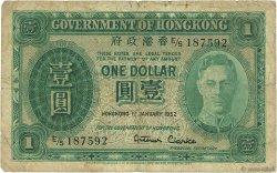 1 Dollar HONG KONG  1952 P.324b B à TB