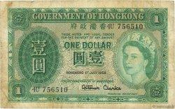 1 Dollar HONG KONG  1958 P.324Ab pr.TB