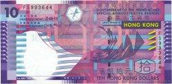 10 Dollars HONG KONG  2002 P.400a pr.SUP