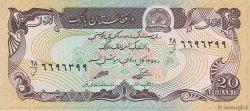 20 Afghanis AFGHANISTAN  1979 P.056a SUP