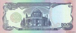 5000 Afghanis AFGHANISTAN  1993 P.062 SPL+