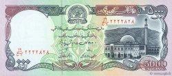 5000 Afghanis AFGHANISTAN  1993 P.062 NEUF